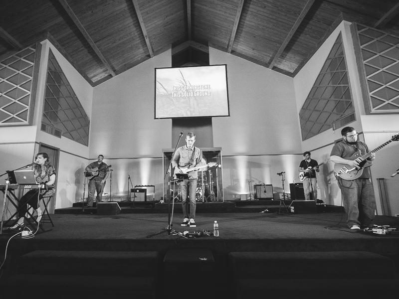 Leading worship at FBC Thibodaux